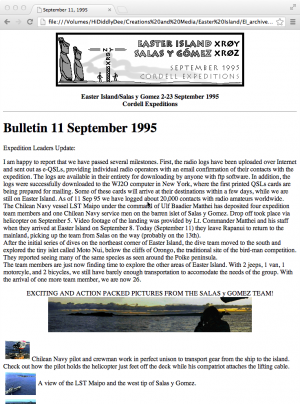 Easter Island Expedition Bulletin